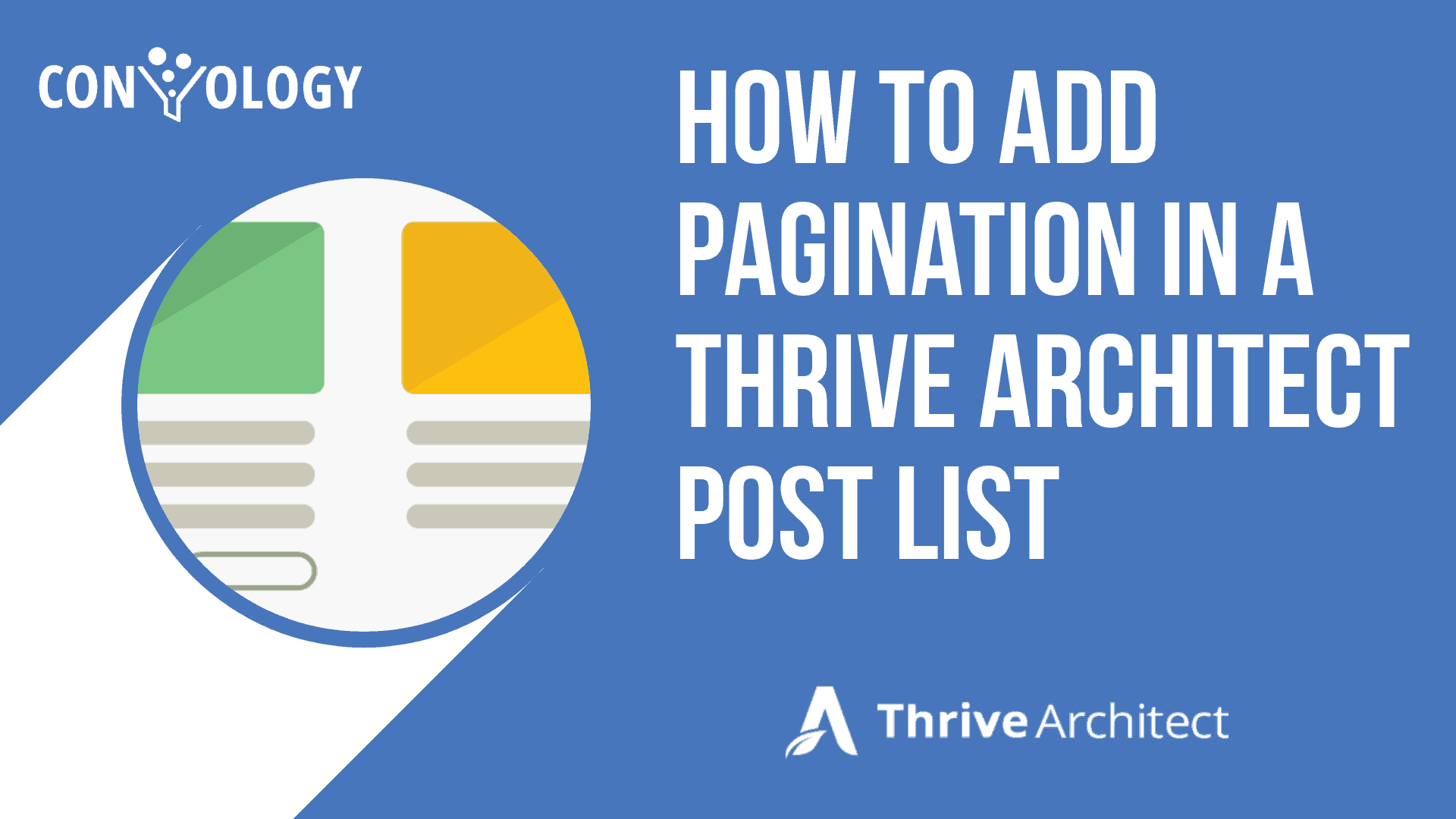 How to add pagination to Thrive Architect Blog posts