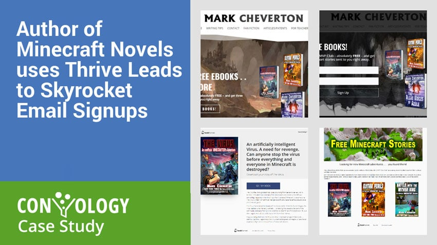 Author of Minecraft Novels uses Thrive Leads to Skyrocket Email Signups