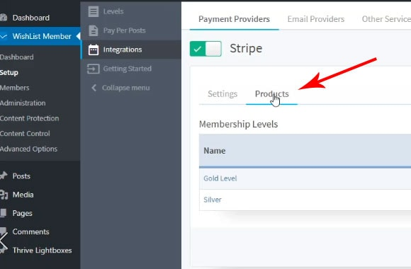 how to set membership level price in stripe with wishlist member