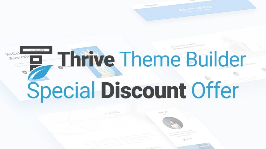 Thrive Theme Builder Discount Coupon Offer