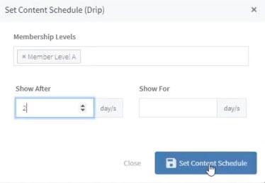 WLM Drip Content Schedule
