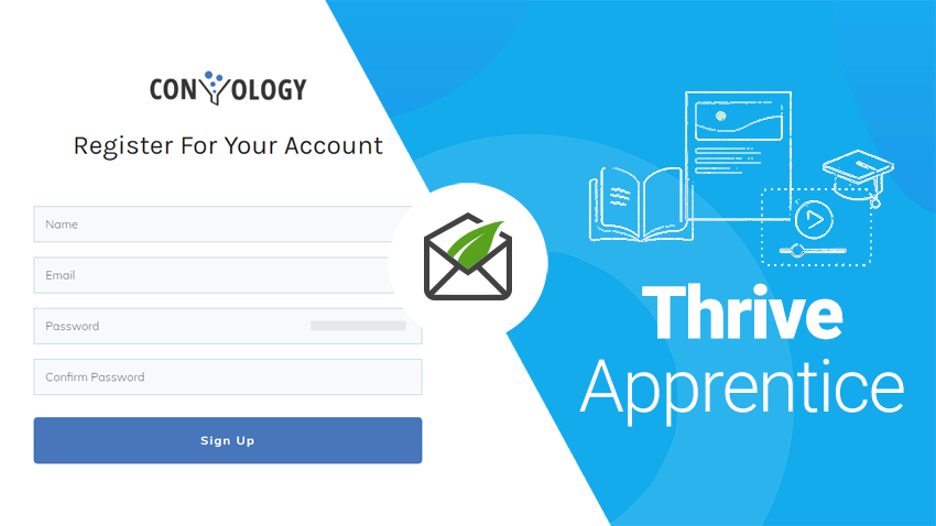 custom registration form for thrive apprentice