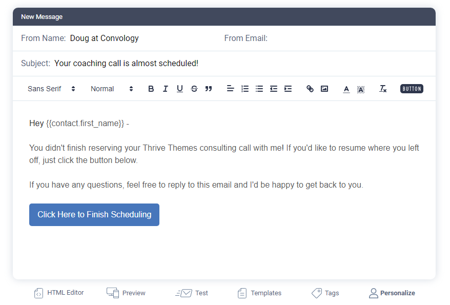 sendfox cart abandonment email