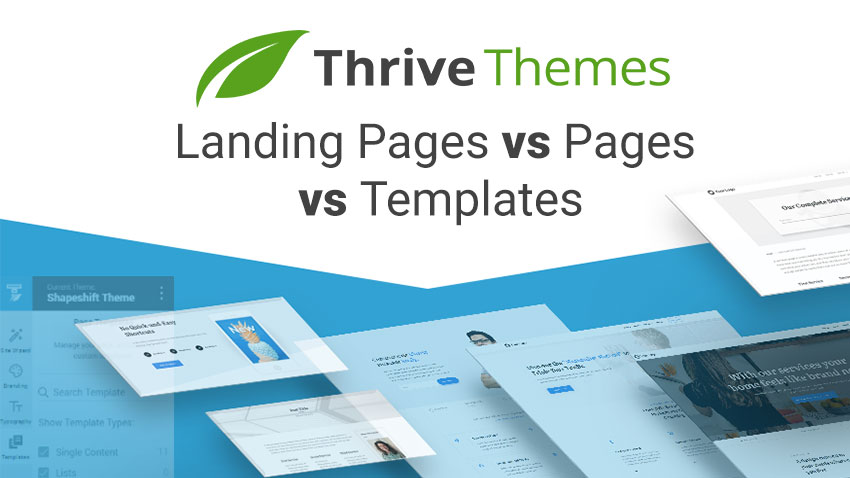 Thrive Themes Landing pages vs pages vs templates