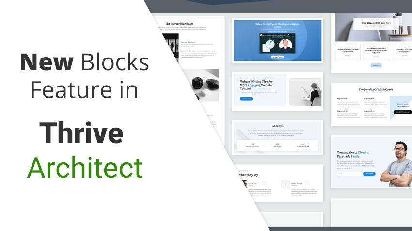 Thrive Themes New Block feature for Thrive Architect