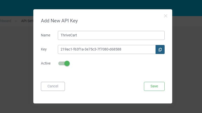 Thrive apprentice API